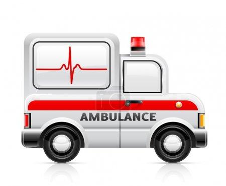 Illustration for Ambulance car vector illustration isolated on white background - Royalty Free Image