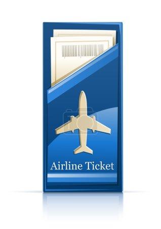 Illustration pour Illustration vectorielle de billets d'avion isolée sur fond blanc - image libre de droit