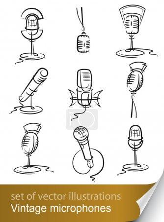 Set vintage microphone