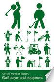 Set of golf icon