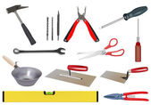 Vector realistic various tool set on white background