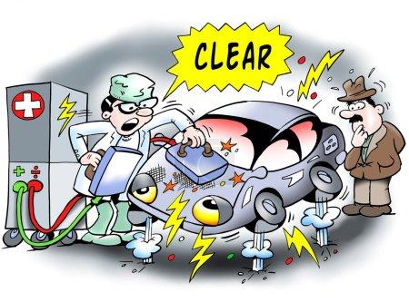 Electric car gets restarted