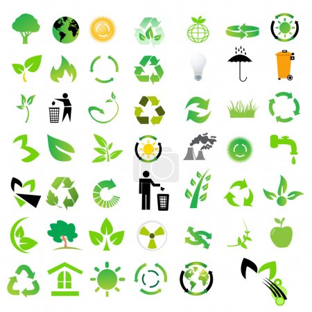 Photo pour Ensemble d'icônes environnementales / de recyclage - image libre de droit