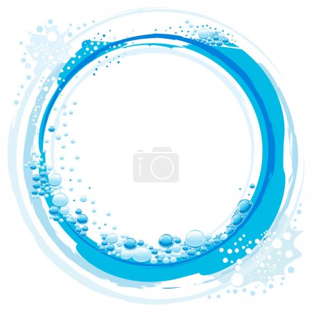 Illustration for Abstract vector water wave with small bubbles - Royalty Free Image