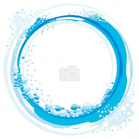 Illustration pour Onde d'eau vectorielle abstraite avec petites bulles - image libre de droit