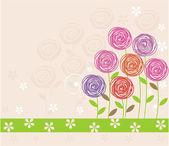 Flower background in vector