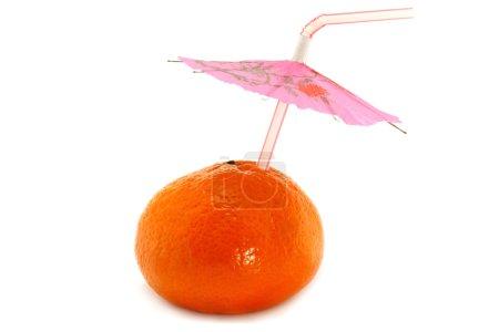 Photo pour Mandarin et tubule sur fond blanc - image libre de droit