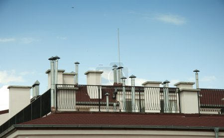 Many Chimneys on rooftop
