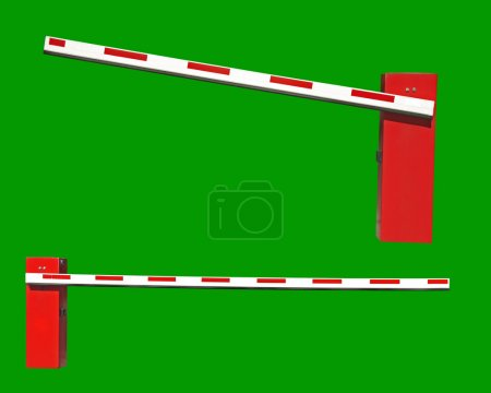 Two real closed Car Barriers