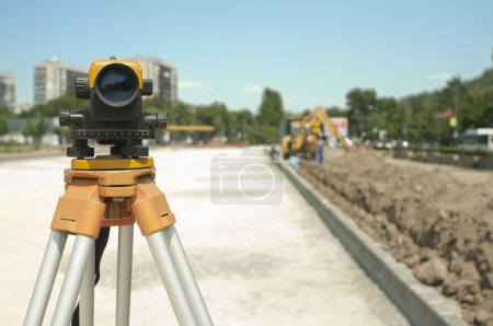 Surveying equipment to infrastructure construction project