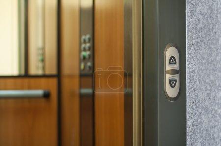 Open door of an elevator