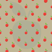 Vector pattern of red apples and green leaves