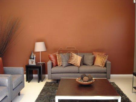 Warm Lounge Room Oranges