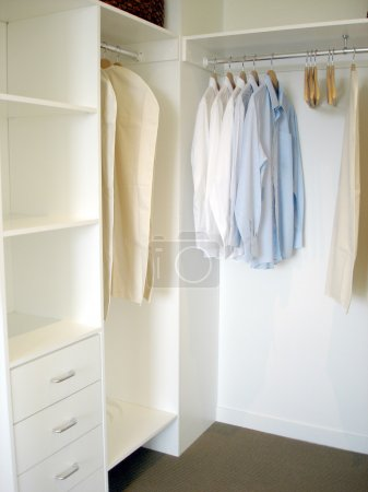 Photo for Desirable feature in new home - a large walk in wardrobe - Royalty Free Image