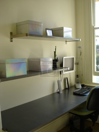 Home Office with shelve