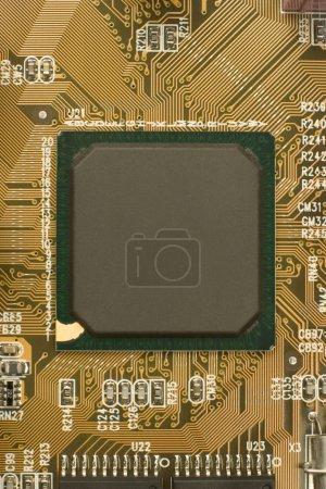 Black chip processor on circuit board