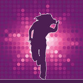 Dancing silhouette hip-hop