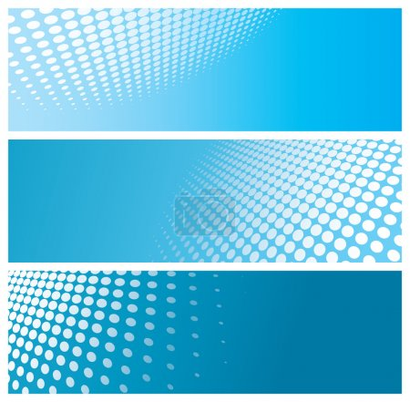 Illustration for Abstract halftone banners, vector illustration - Royalty Free Image