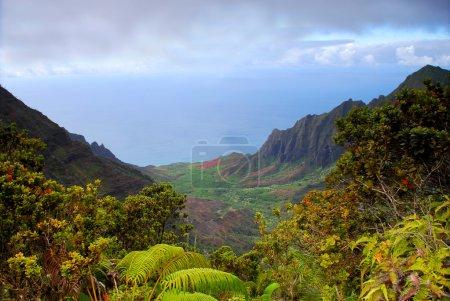 View of the rugged Na Pali coast of Kauai Hawaii...
