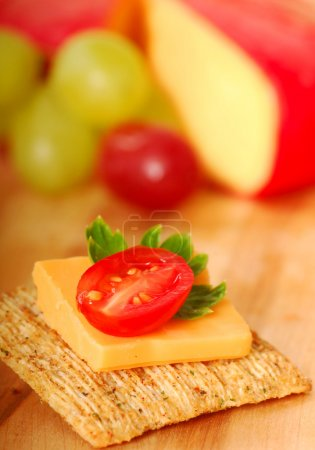 Whole wheat cracker appetizer