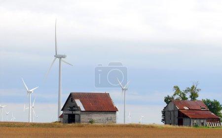 Windfarm on farm land