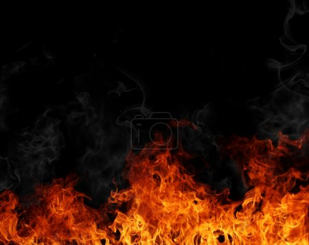 Photo for Big fire flames background - Royalty Free Image