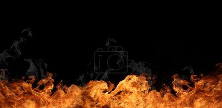Foto de Grandes llamas de fuego de fondo - Imagen libre de derechos