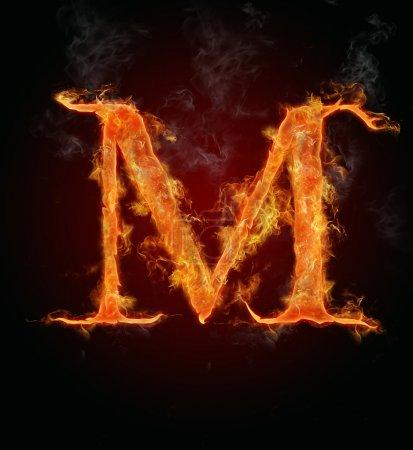 Flammende Schrift, Buchstabe m