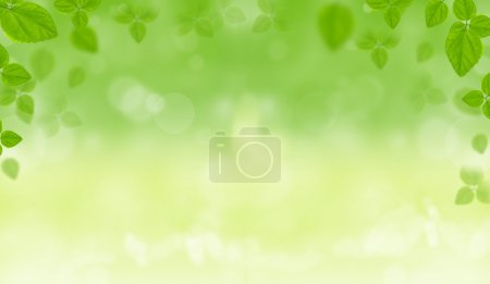 Photo for Spring natural background with leaves - Royalty Free Image