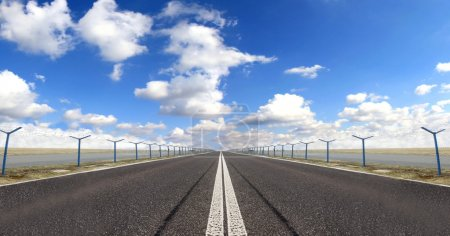 Photo for Narrow motorway with beautiful sky - Royalty Free Image