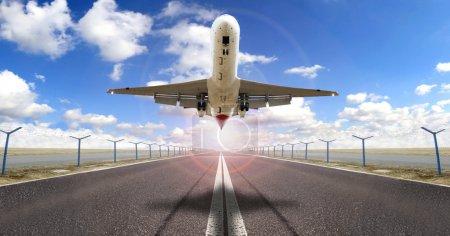 Above runway