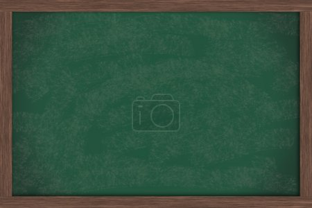 Photo for A blank green chalkboard with a wooden frame, chalk board - Royalty Free Image