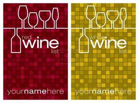 Illustration pour Menu des vins au format vectoriel . - image libre de droit