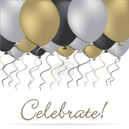 Illustration for Elegant celebration card in vector format. - Royalty Free Image