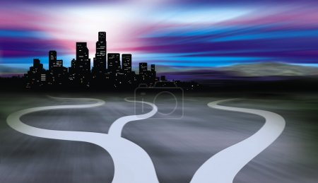 Paths to city