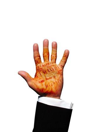 Photo pour Main d'Éthiopie - image libre de droit