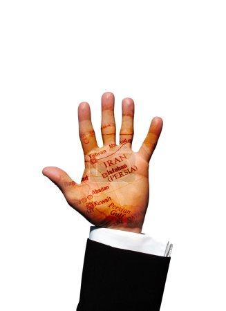 Photo pour Main de l'Iran - image libre de droit