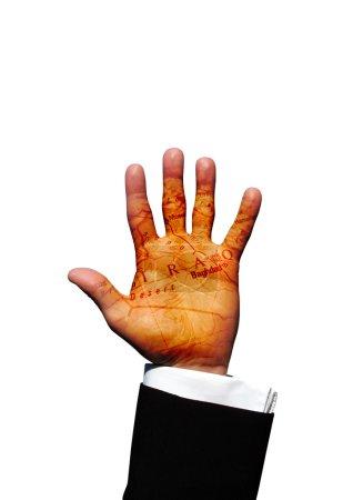 Photo pour Main d'Irak - image libre de droit