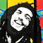 Bob Marley colorful graffiti portrait...