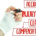 Injured hand writing injury claim procedure