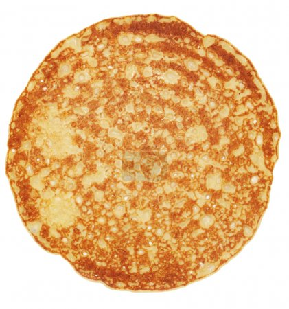 Traditional pancake isolated against white...