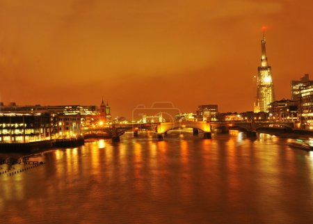 Shard London Bridge by night