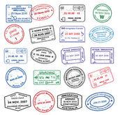 High details vector passport stamps