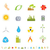 Green environment related icon set