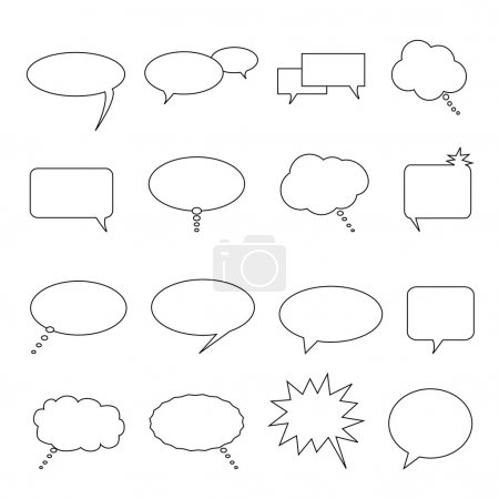 Illustration for Speech, thought and talk balloons and bubbles - Royalty Free Image