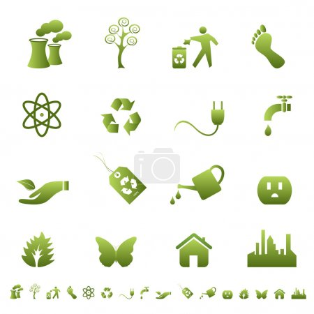 Illustration for Clean environment and ecology symbols and signs - Royalty Free Image