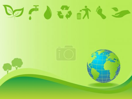 Illustration for Clean green environment and earth - Royalty Free Image