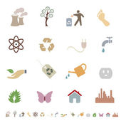 Environment and eco friendly icon set