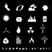 Clean environment and energy icons and symbols
