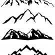 Mountains with snowy peaks...